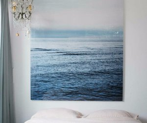 room, bed, and art image
