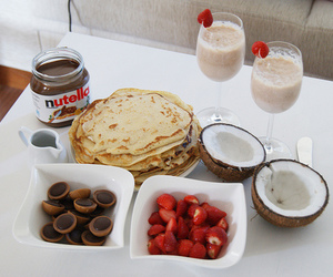 nutella, food, and strawberry image