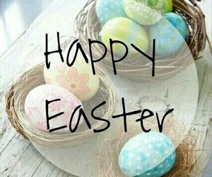 easter, happy easter, and eggs image