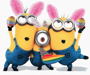 easter, minions, and holiday image