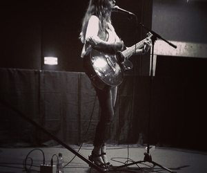acoustic, guitar, and heels image