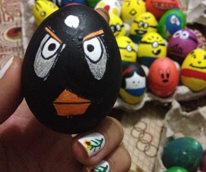 easter, easter eggs, and angry birds image