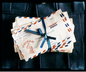 Letter, ribbon, and Vietnam image