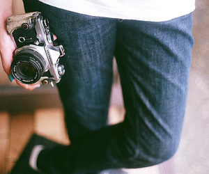 camera, vintage, and jeans image