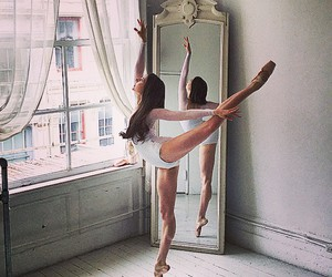 dance, mirror, and beautiful image