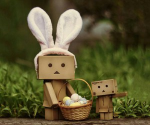 easter, danbo, and eggs image