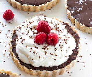 chocolate, dessert, and tart image