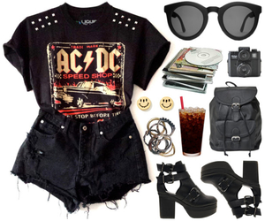 ACDC, black, and fashion image