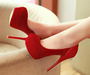 cool, heels, and red image