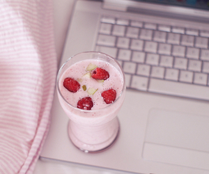 apple, strawberries, and yummy image