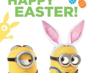 minions, easter, and bunny image