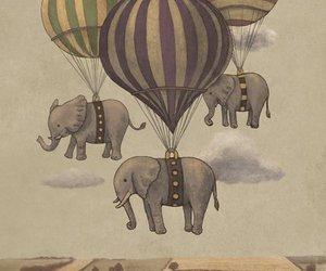 elephant, balloons, and art image