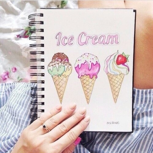 ice cream, drawing, and art image