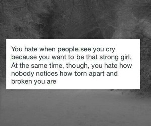 be strong, cry, and dark image