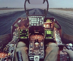 air, beatiful, and cockpit image