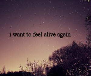 alive, quote, and sky image