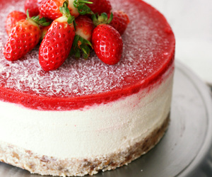 strawberry, cheesecake, and food image