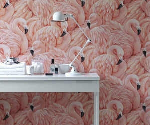 flamingo, wallpaper, and pink image