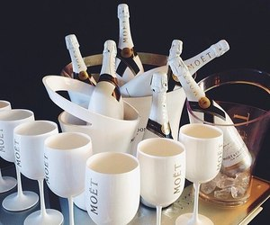 drink, white, and champagne image