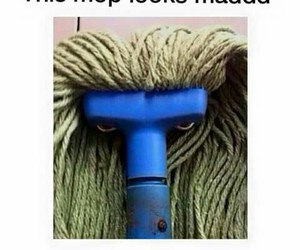 funny, mad, and mop image