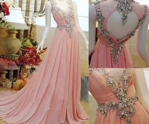 dress, long, and pink image