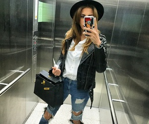 bag, blouse, and jeans image