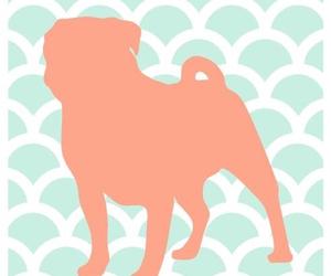 dog, pastel, and pug image