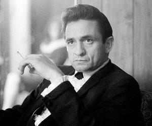 Johnny Cash and cigarette image