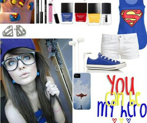 Polyvore, tumblr, and superman image