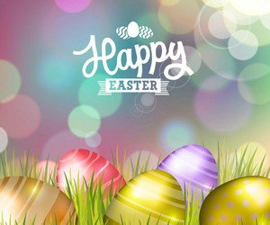 colorful, easter, and easter eggs image