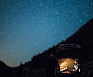 adventure, mountains, and stars image