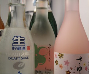 drink, theme, and sake image