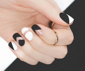 balck, rings, and white image