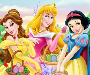 belle, disney, and snow white image