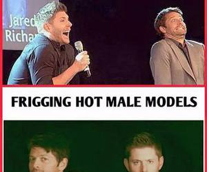 Jensen Ackles and misha collins image