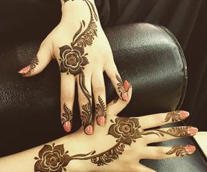 henna, art, and rose image
