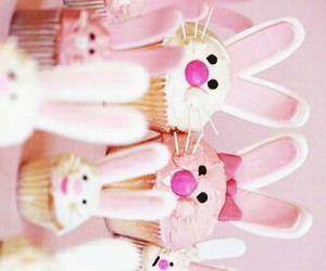 easter, pink, and rabbits image