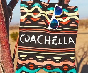 coachella, sunglasses, and bag image