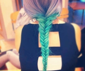 braid, color, and hair image
