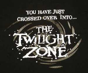 the twilight zone and black and white image