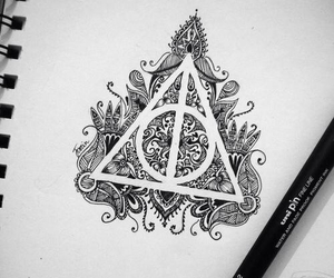 harry potter, drawing, and art image