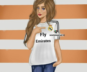 draw, real madrid, and girl image