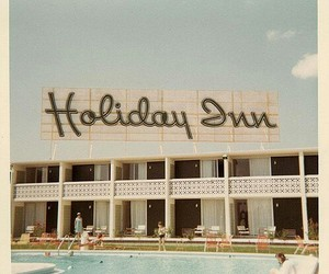 hotel, retro, and holiday inn image