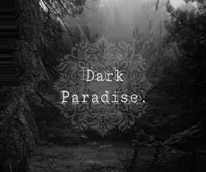 dark, paradise, and aye image