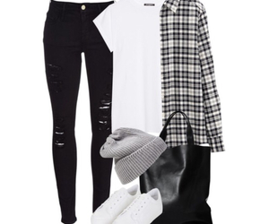 beanie, gray, and outfits image
