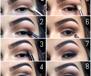 brown eyes, make up, and passion image