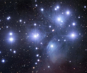 stars, pleiades, and galaxy image
