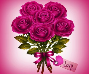 romantique, rose, and love image