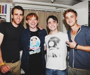 harry potter, daniel radcliffe, and rupert grint image