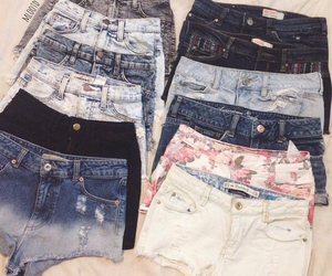 shorts, summer, and jeans image